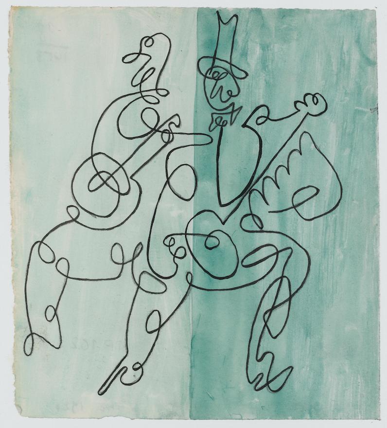Pablo Picasso (1881-1973), projet pour la couverture de la partition de Ragtime d'Igor Stravinski