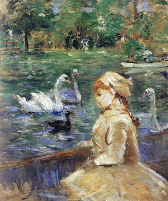 Berthe Morisot (1841-1895), Sur le lac, 1884